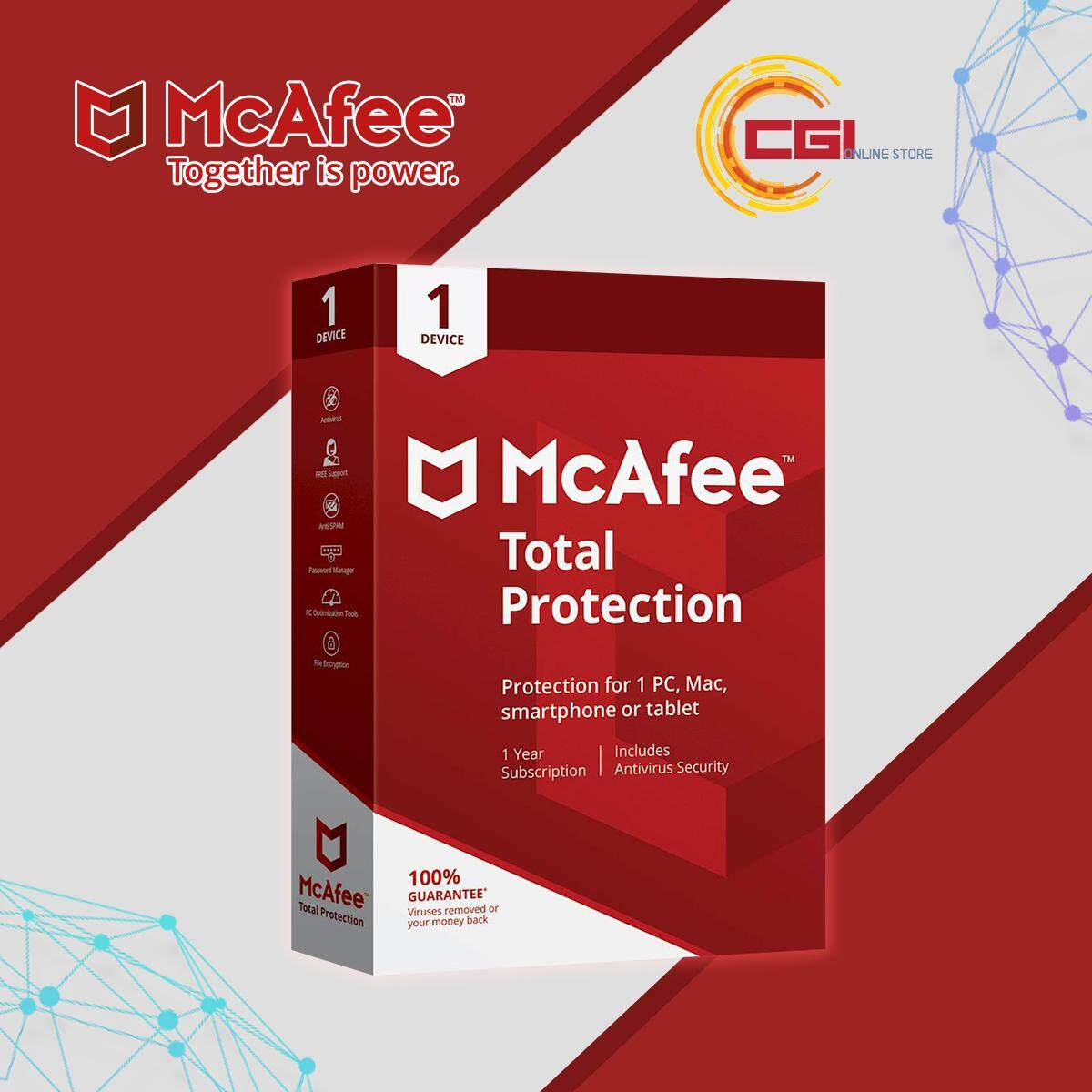 McAfee Total Protection 1 Device 1 Year Retail