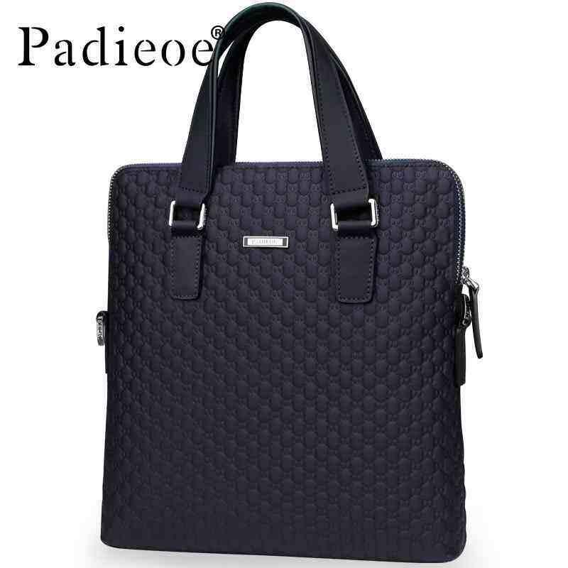 AirStar Padieoe New Designer Handbags Genuine Cow Leather Handbags Business Bag Men high quality Shoulder Bag Office Bag Mens Business Bag Briefcase