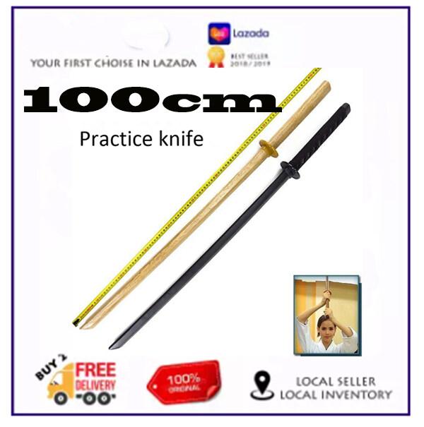 Kiếm Gỗ Kendo 100Cm (Bokken) Để Cosplay Và Thể Thao Màu Gỗ Nguyên Bản