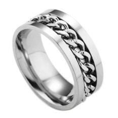 Nhẫn đeo tay bằng thép titan thời trang, độc đáo dành cho nam, kích cỡ 6-12 AVECON