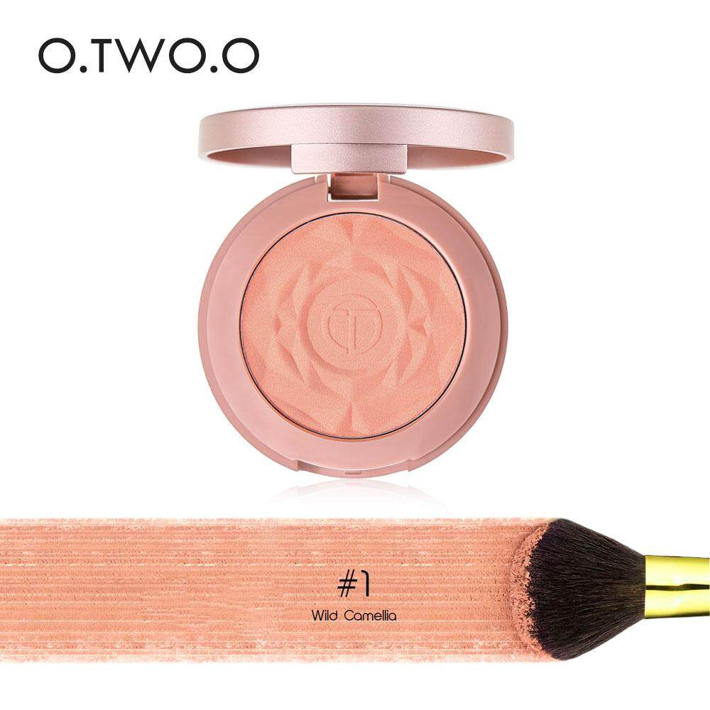 O.two.o Aisa 6 Colors Blush Natural Baked Face Mineral Blusher Palette With Brush01 By O.two.o Official Store.