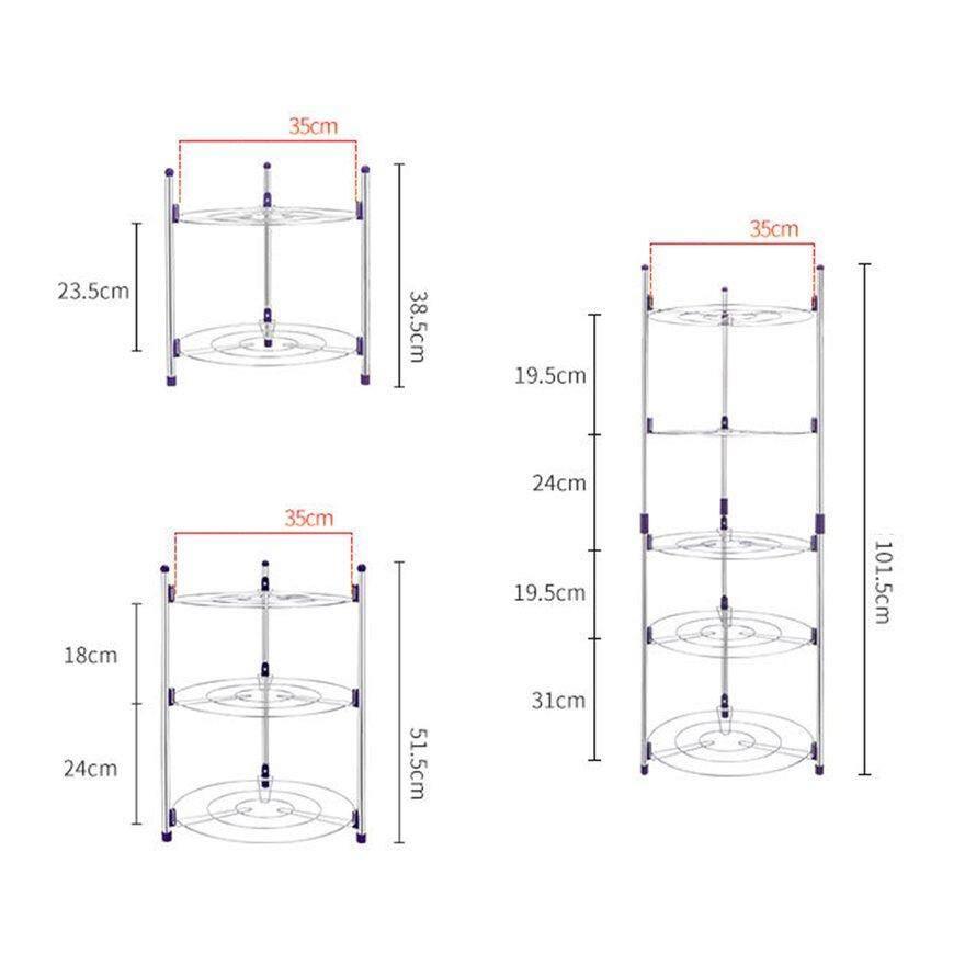 ANEXT Kitchen Storage Holder Durable Stainless Steel Metal Pot Shelf Pan Rack Holder