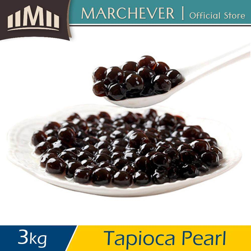[halal] Royal Tea Black Tapioca Pearl Bubble Jelly Topping Coolblog Pearl - 3kg By Marchever Official Store.
