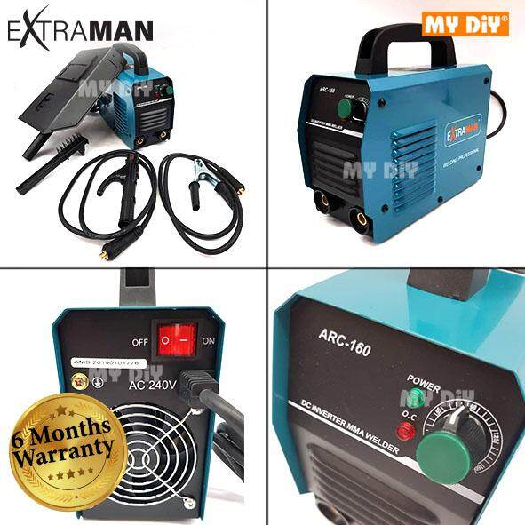 MYDIYHOMEDEPOT - Extraman Portable  Welding Machine Inverter ARC 160 Set