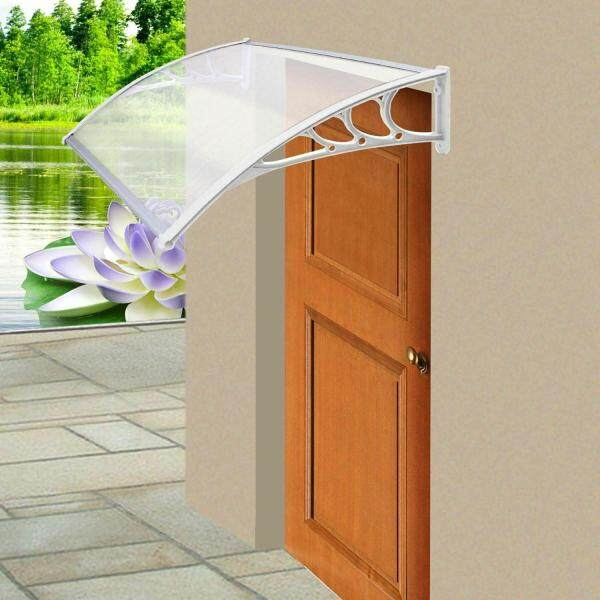 Good Service 120x75cm New Door Canopy Awning Rain Shelter Front Back Porch Outdoor Shade Patio Roof