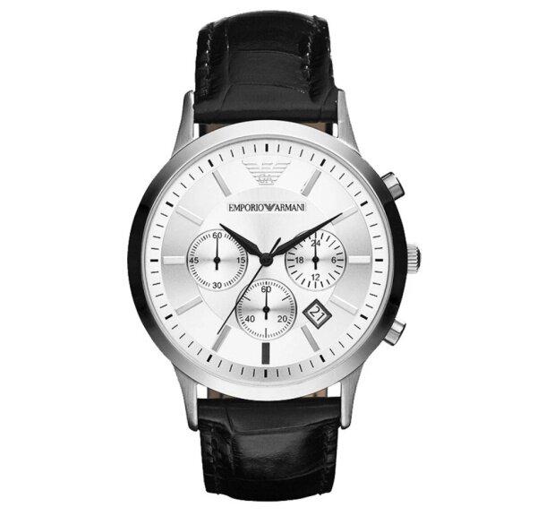 Emporio Armani Mens Classic White Dial Chronograph Watch AR2432 Malaysia