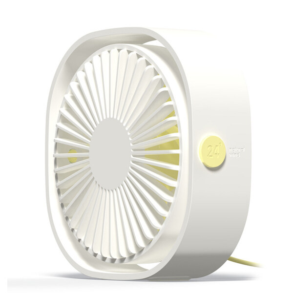 [Ready Stock] HGKK-Portable Rotation 4 Inch Mini Cooling Fan USB Air Cooler Desktop Fan For PC Laptop Notebook