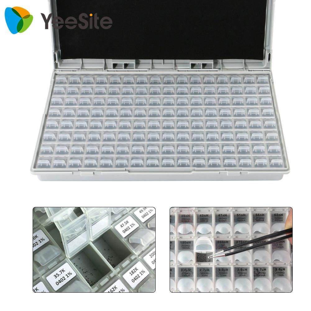 Yeesite Enclosure SMD SMT IC Resistor Capacitor Electronics Storage Case Organizers ESD Safe Precision Component Enclosures Boxes
