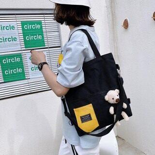 Ins Túi Đeo Vai Phong Cách Hàn Quốc Có Búp Bê Gấu Túi Tote Cho Học Sinh Nữ Dung Tích Lớn Túi Ba Lô Dễ Thương thumbnail