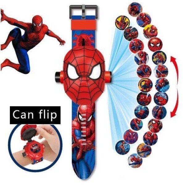 (Up To 15 Cartoon) Jam Tangan Kanak2/ Children Cartoon Projector Watch Projection Avengers Spiderman Watches 24 Images Malaysia