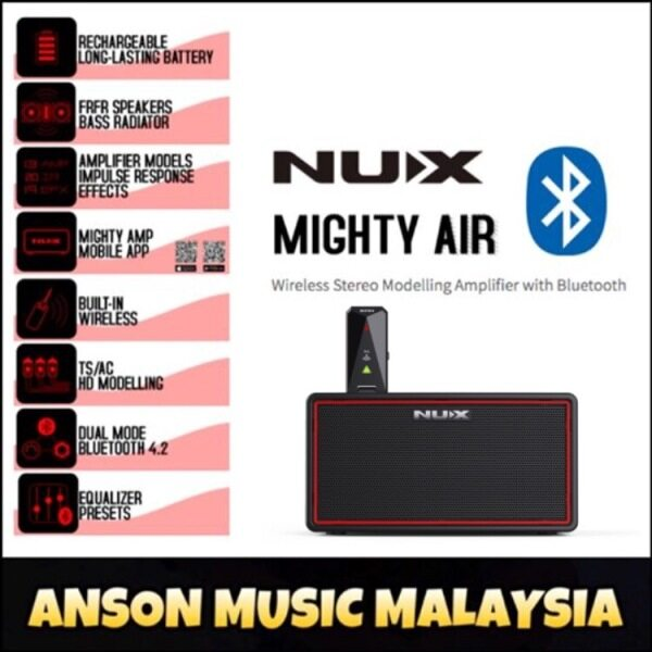 NUX Mighty Air Wireless Stereo Modelling Amplifier with Bluetooth Malaysia