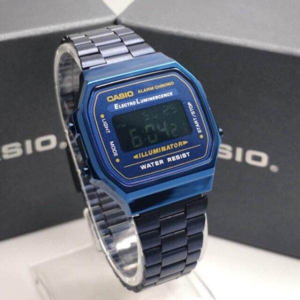 CASI0 A168 Viral Blue Stainless Steel Wrist Watch Malaysia