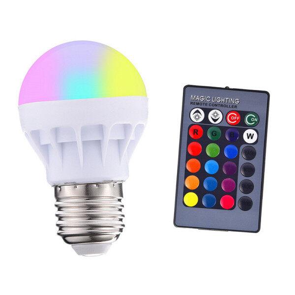 Bảng giá RGB LED Light Bulb E27 3 Wát 16 Màu Sắc Thay Đổi Ma Thuật Đèn Spotlight Bulb Với IR Điều Khiển Từ Xa Ánh Sáng Kỳ Nghỉ Trang Trí Nội Thất 85-265V