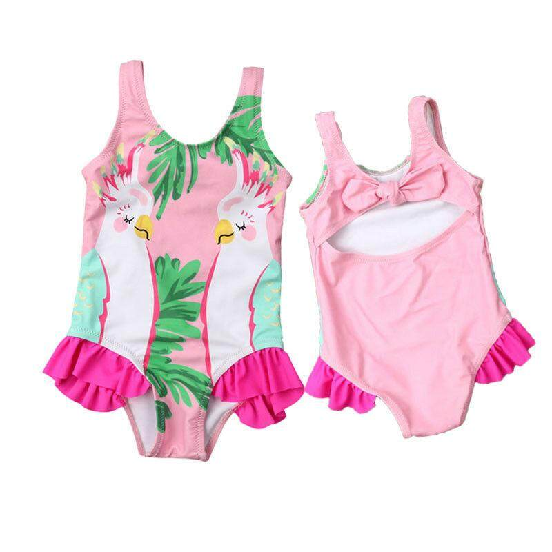 Kids Baby Girls Parrots Bikini Swimwear Swimsuit Bathing Suit Swimming Costume