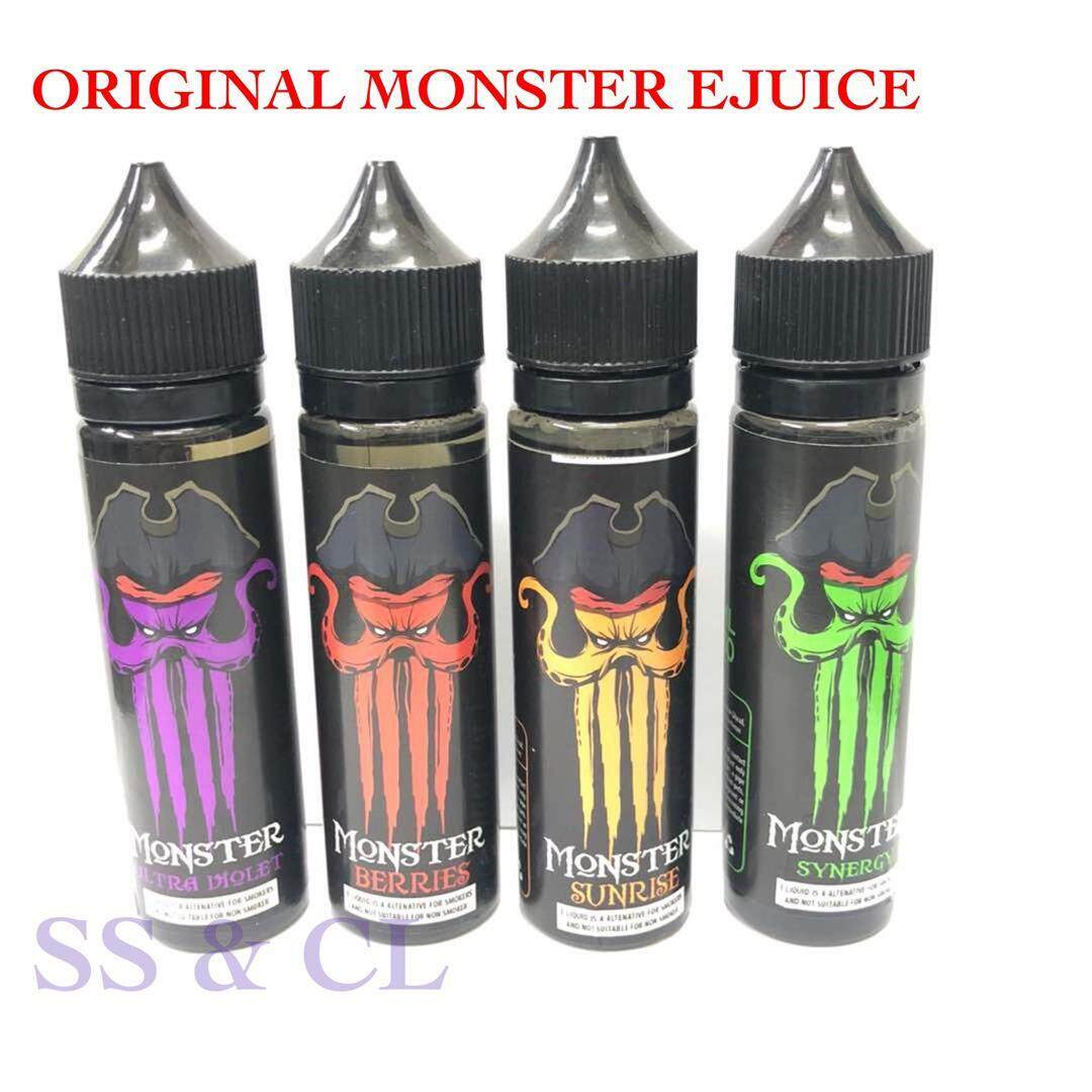 E-Juice Monster 60ML - Synergy  Berries  Ultra Violet  Sunrise - Vape Juice (6MG) Malaysia