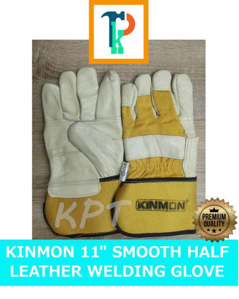 BEST QUALITY KINMON 11 WELDING GLOVE / SMOOTH HALF LEATHER GLOVE / SAFETY GLOVE /SARUNG TANGAN KULIT LICIN SELESA /皮焊手套/舒适