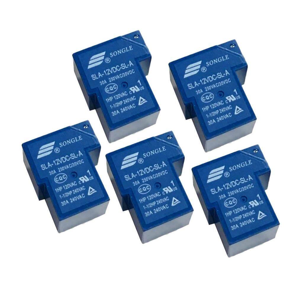 Miracle Shining 5 Pcs รีเลย์อัตโนมัติ Universal 12 V 30a Songle Sla-12vdc-Sl-C 6 Pin Pcb Mount By Miracle Shining.