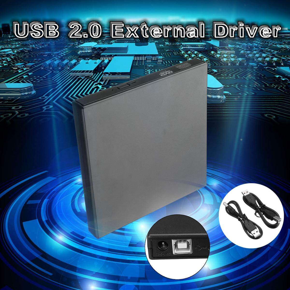【Free Shipping + Flash Deal】External USB2.0 DVD RW CD Writer Slim Drive Burner Reader Player For PC Laptop