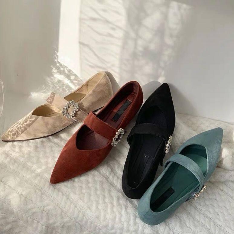 Vintage Mary Janes Giày Cao Gót Nữ Giày Nữ Giày Nữ Giày Đi Học Giày Búp Bê Cho Nữ Giày Đế Bằng Ba Lê Cho Nữ Giảm Giá 090129 giá rẻ