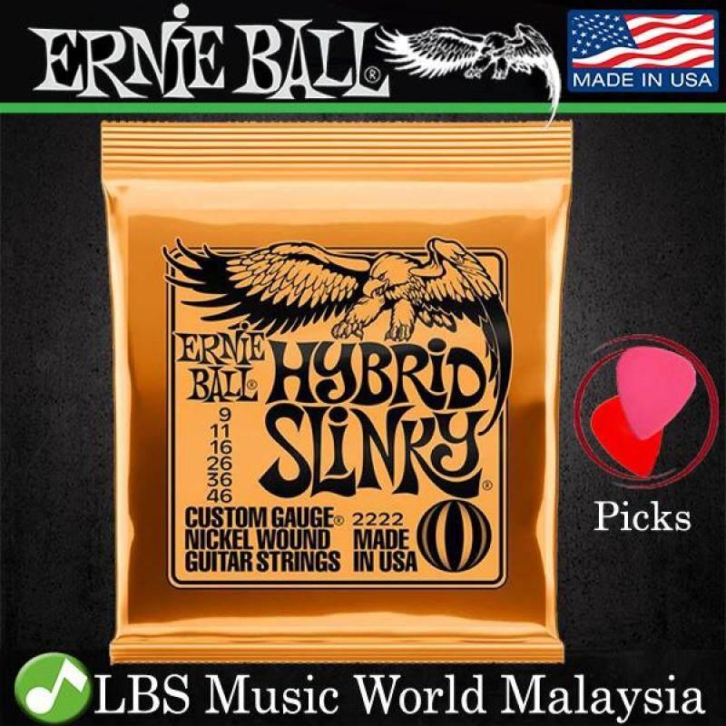 Ernie Ball 2222 Hybrid Slinky Nickel Wound Electric Guitar String (9-46) Malaysia
