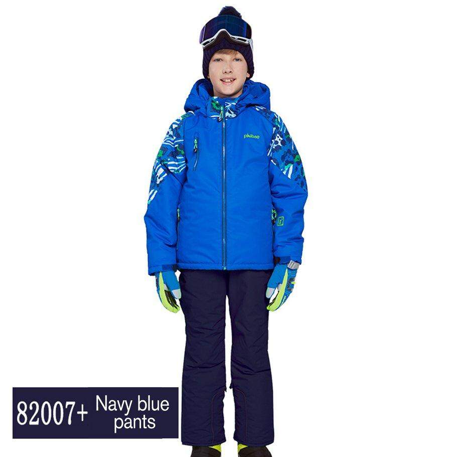 Promo Ski Anak-Anak Setelan Celana Tahan Air + Setelan Jaket Tebal Pakaian Setelan Ski S By Beaujasmine.