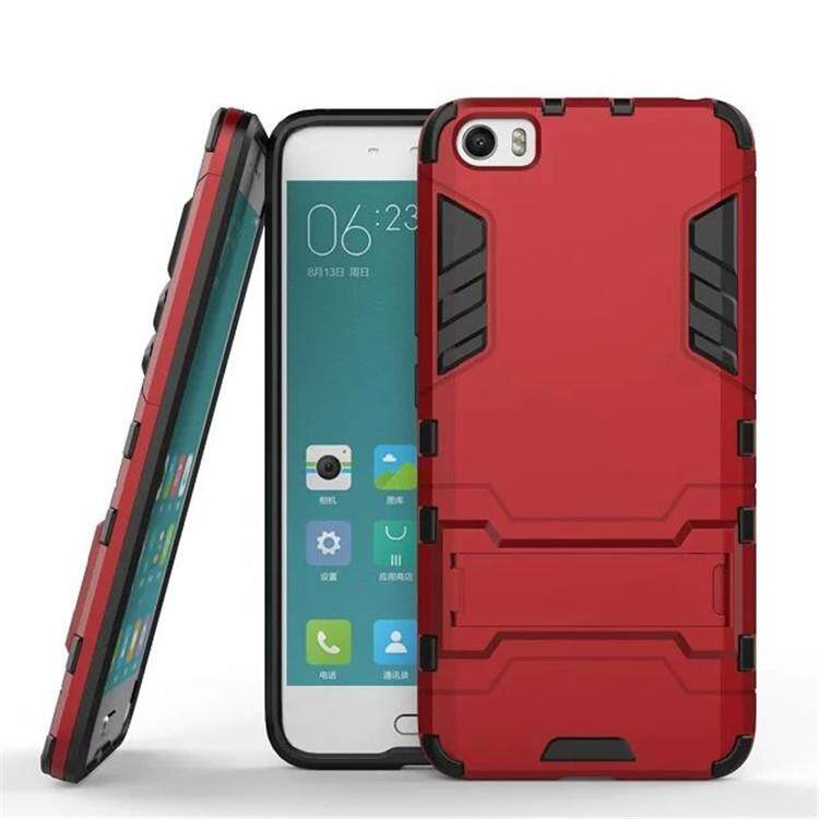 Hard cover invisible bracket 2 in 1 new mobile phone case for Xiaomi Mi 5