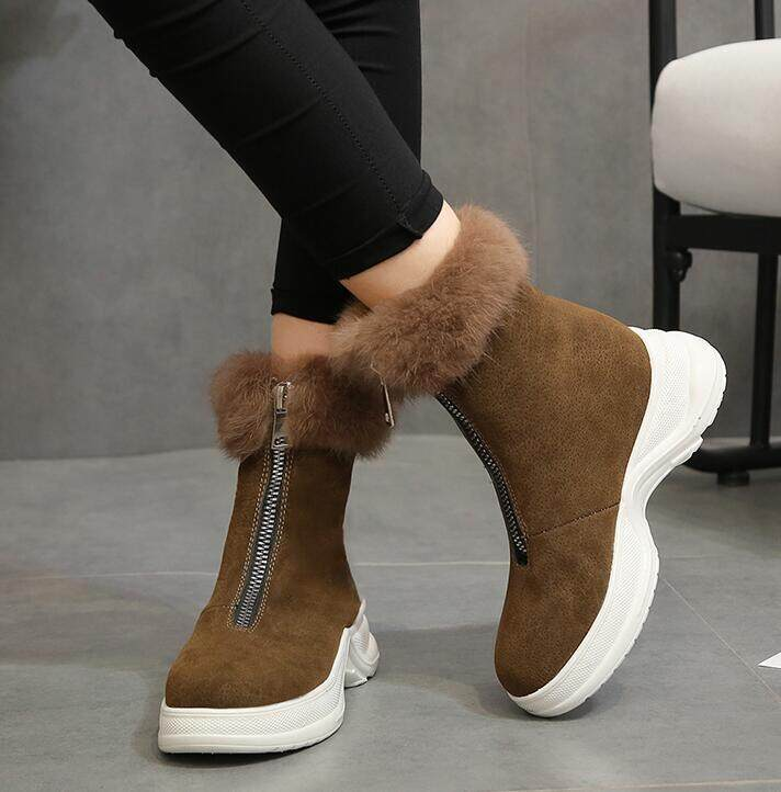 a6590a5e21227 2019 Winter New Women Boots Snow Boots Sneakers Plush High Top Velvet  Cotton Shoes Warm Fashion