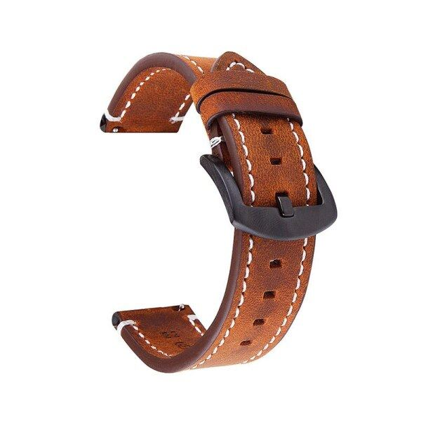 Genuine Leather Strap High-end Retro Watch Band Men Calf Leather Watchbands for Amazfit Bip Leather Watch Strap18mm 20mm 22mm Malaysia