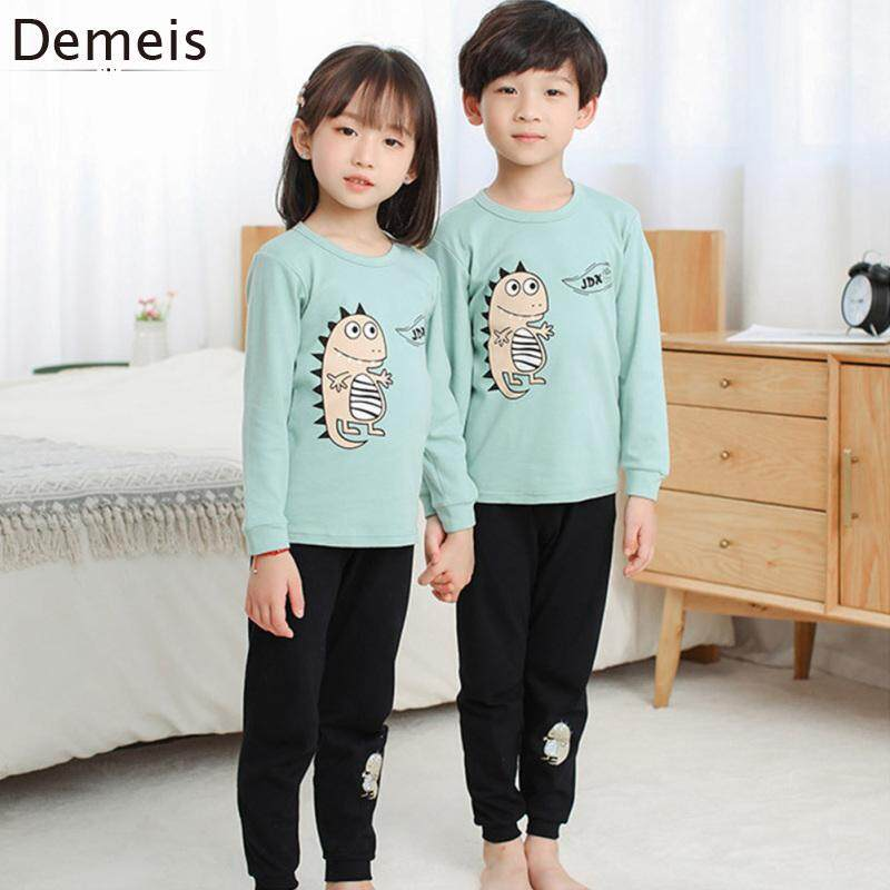 Child Outfit Tops+Trousers Round Collar Long Sleeve 2PCS Kids Girls Clothes Sets