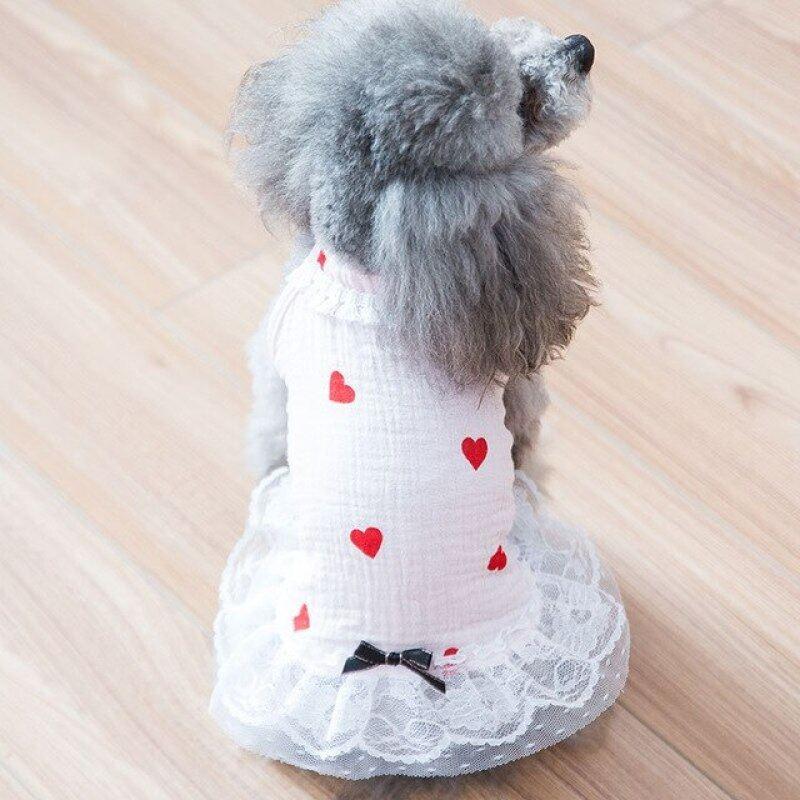 Mới Chó Mỏng Váy Lưới Teddy Bear Chó Nhỏ Quần Áo Mèo Quần Áo Thú Cưng