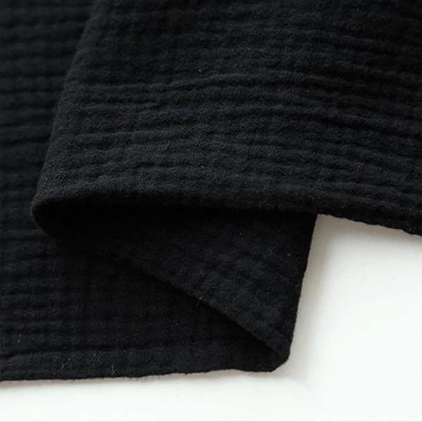 Nhà Dệt Tre Handmade DIY May Crepe Quần Áo Ăn Mặc Đôi Cotton Linen Slub Vải Mềm