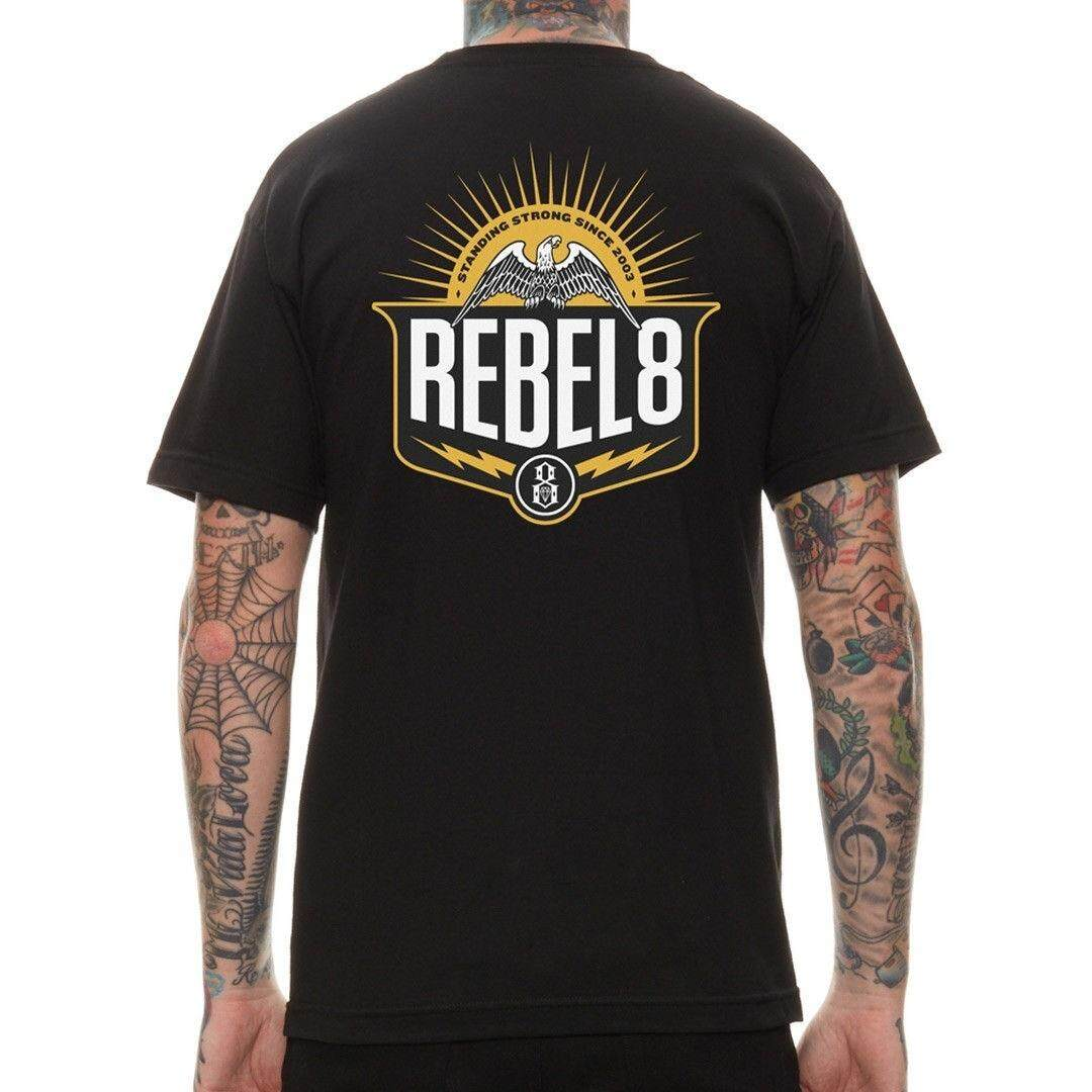 648e151f Standing Strong Mens Rebel 8 Eight Graphic T-Shirt Street Wear Black Two  Sides Printed S-3XL | Lazada
