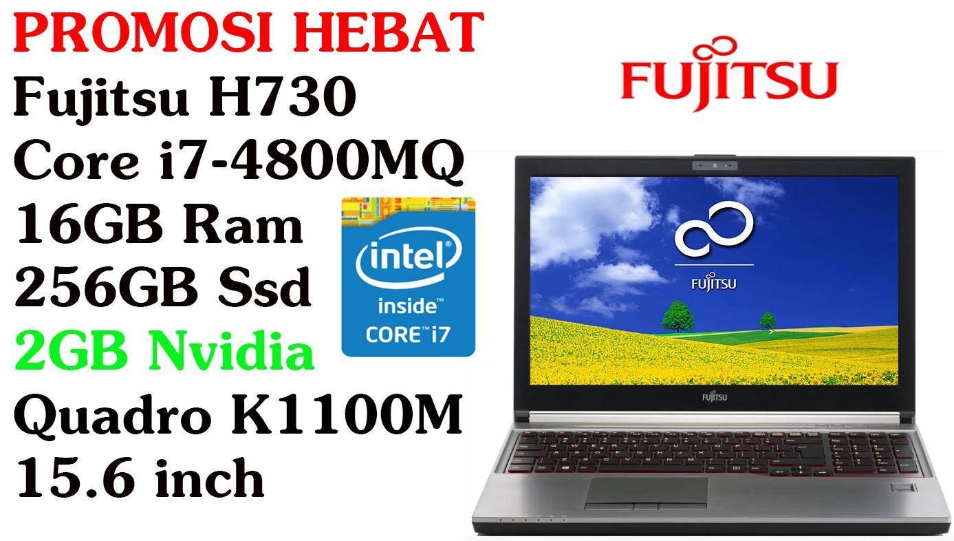Workstation Fujitsu H730 Core i7-4800MQ 16GB RAM 256GB SSD 15.6 INCH Malaysia