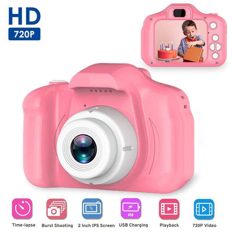 Offer tại Lazada cho Strflowers Máy Ảnh Kỹ Thuật Số Cho Trẻ Em, 1080P HD Máy Quay Video Kỹ Thuật Số Cho Trẻ Em Với 2 Inch IPS Màn Hình Cho 3-12 Năm Nam Nữ Quà Tặng
