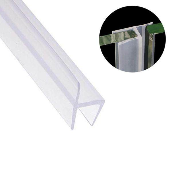 CZS 3m/9.8FT Glass Shower Door Seal Strip Silicone Frameless Waterproof Soundproof Anti-collision Strip Stopper Noise Blocker For Glass Windows