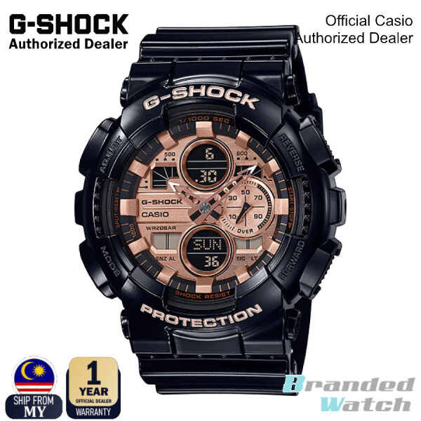 [OFFICIAL CASIO WARRANTY] Casio G-Shock GA-140GB-1A2 Special Color GA Series Black Resin Band Watch (watch for man / jam tangan lelaki / casio watch for men / casio watch / men watch / watch for men / jam digital / g shock original) Malaysia