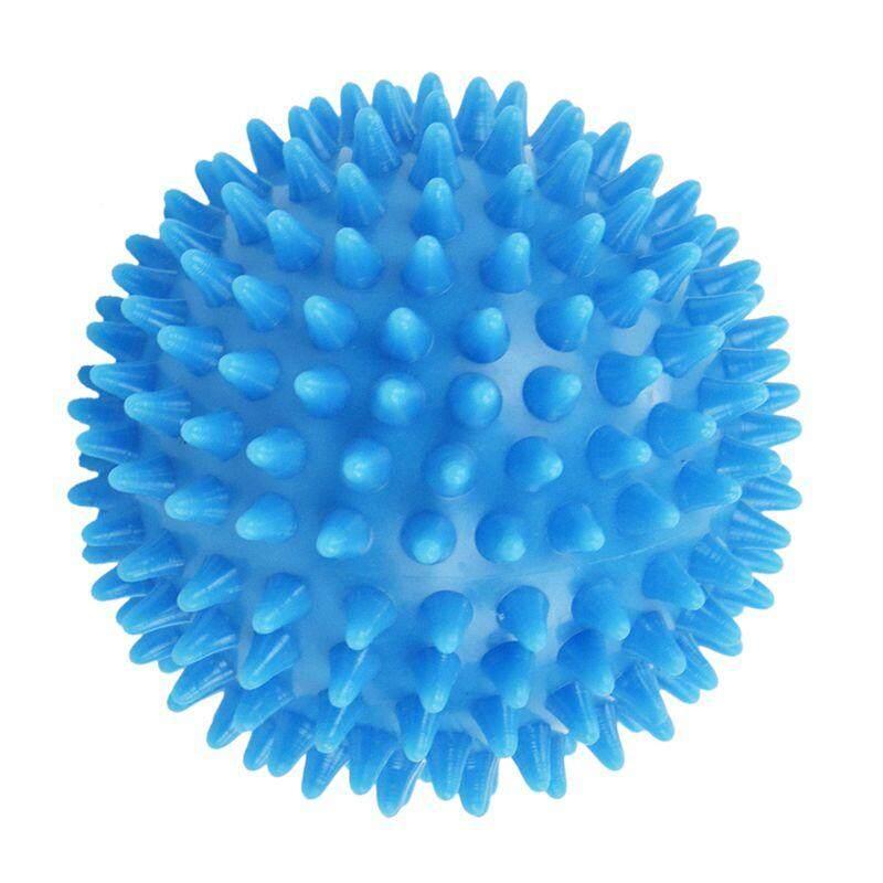 Spiky Massage Ball Hard Stress Ball 7.5cm for Fitness Sport Exercise (sky blue)
