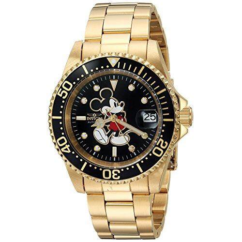 Invicta Mens Disney Limited Edition Automatic-self-Wind Watch with Stainless-Steel Strap, Gold, 20 (Model: 25107) Malaysia