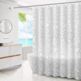 Rèm Nhà Tắm 180X180CM Rèm Phòng Tắm, PEVA Dày Vải Polyester EVA, Chống Nấm Mốc Không Thấm Nước thumbnail
