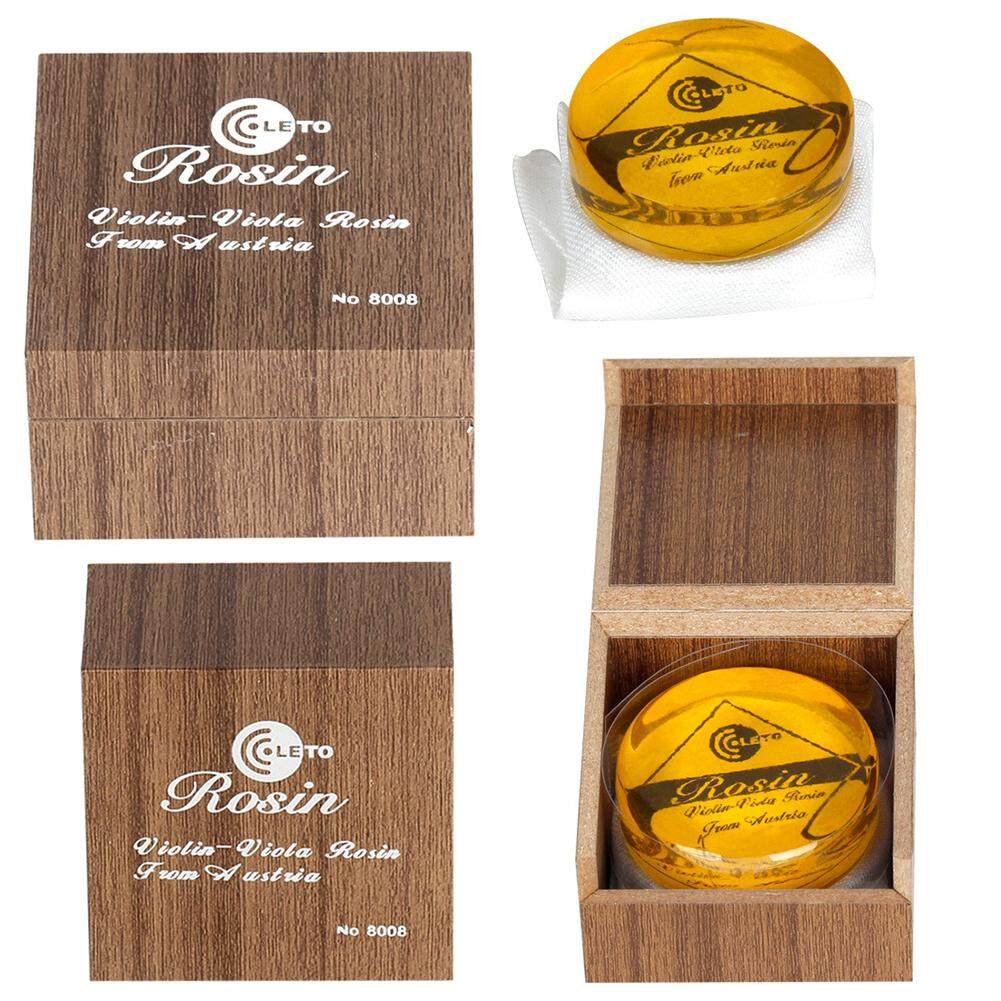 Wangwang Transparent Yellow Rosin Resin Colophony Low Dust Handmade Rounded With Box For Violin Viola Cello Bowed String By Wangwang Store.