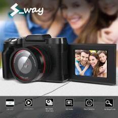 S_way 《 Ban Đầu 》 Xj06 Kỹ Thuật Số Full HD 1080P 16MP Camera Chuyên Nghiệp Máy Video Vlogging Lật Camera Selfie