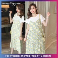 Váy Bà Bầu Mengtingyan Váy Thời Trang Cỡ Lớn Cho Bà Bầu