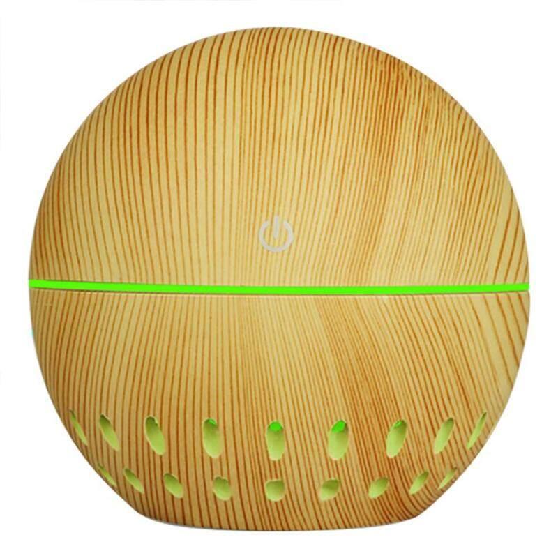「winnereco」130mL Wood Grain USB Aroma Essential Oil Diffuser Ultrasonic Air Humidifier Singapore