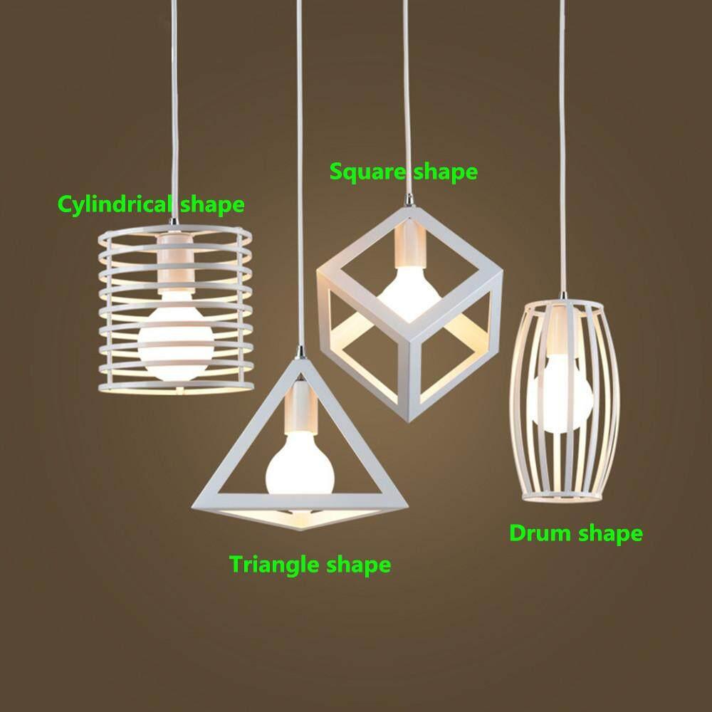 Redcolourful Geometrical White Iron Art Lampshade for Restaurant Lighting E27 110-220V (No Bulb)