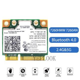 7260HMW 7260AN AN7260 Thẻ Không Dây Wi-Fi 300Mbps + 300Mbps Băng Tần Kép 2.4G 5G Bluetooth 4.0 Card Mạng Wifi Nửa Mini PCI-E 867M Máy Tính Xách Tay Máy Tính Để Bàn SPS 717381-001 thumbnail