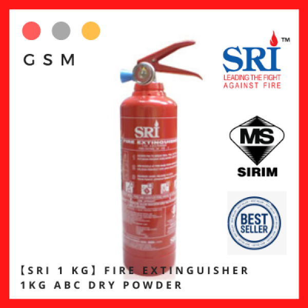 【SRI 1 KG】Fire Extinguisher 1KG ABC Dry Powder #FireExtinguisher #Suitable for car and house