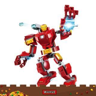 Bộ đồ chơi lắp ráp mô hình nhân vật siêu anh hùng marvel cho trẻ em mầm non từ 3 tuổi WUHUI (Sản phẩm có 3 phiên bản lựa chọn, vui lòng chọn đúng sản phẩm cần mua) - INTL thumbnail