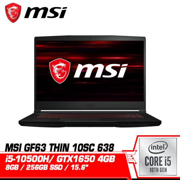 MSI Gaming Laptop GF63 Thin 10SC 638 (15.6Inch FHD IPS 60Hz Intel i5 10500H 8GB RAM 256GB SSD Nvidia GTX1650 4GB Windows 10 2 Years Warranty 1.86 KG) Malaysia