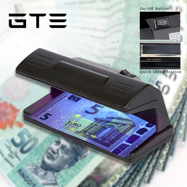 GTE Small Portable UV Light Counterfeit Money Currency Detector Pengimbas Wang Kertas - Fulfilled by GTE SHOP