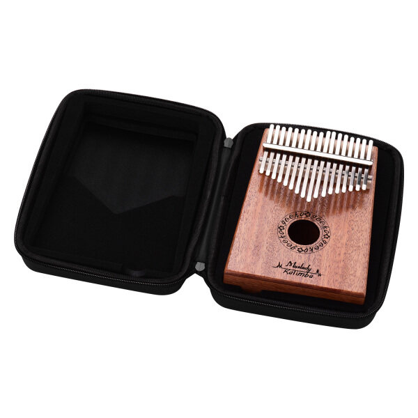 Muslady 17 Keys Thumb Piano Kalimba Mbira Finger Piano Solid Wood Metal Material Musical Instrument Portable for Kids Adults Beginner with Tuning Hammer Carring Case Wiping Cloth Sticker Malaysia